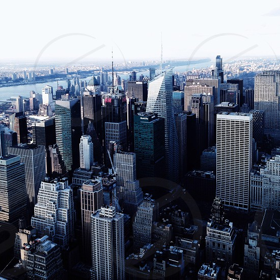 high rise buildings aerial view photo