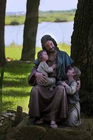 Jesus Children Statue photo