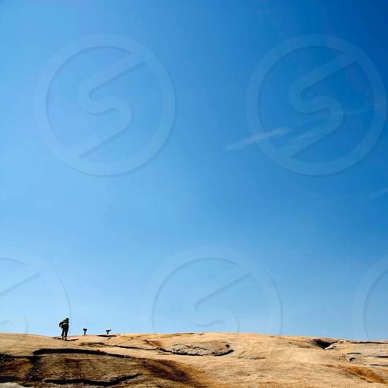 Lone hiker photo
