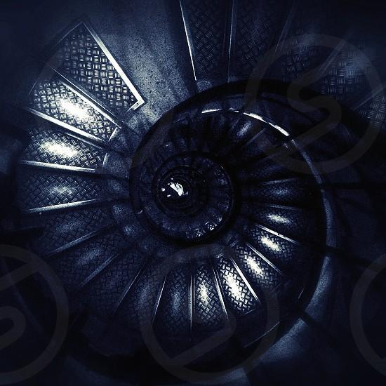 black round stairs photo