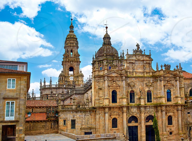 Santiago de Compostela Cathedral end of Saint James Way in Galicia Spain photo