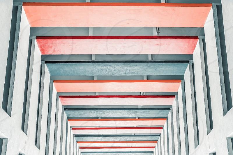 Multi colored corridors photo