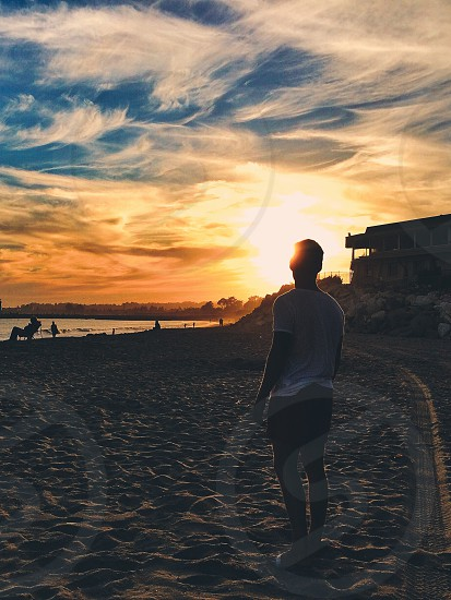 Beach sunset inspire 20 guy Santa Cruz photo