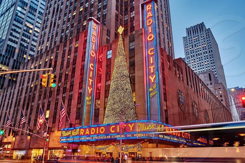 Christmas tree at Radio City Music Hall photo