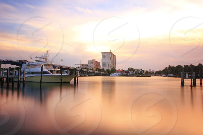 white cruise ship near harbor photo