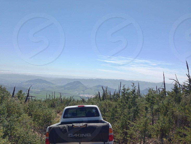 Truck in the wilderness forests of the Los Padres national forest in San Luis obispo CA #toyotatacoma photo