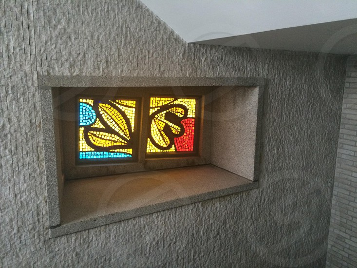 stained glass in Rotterdam building photo