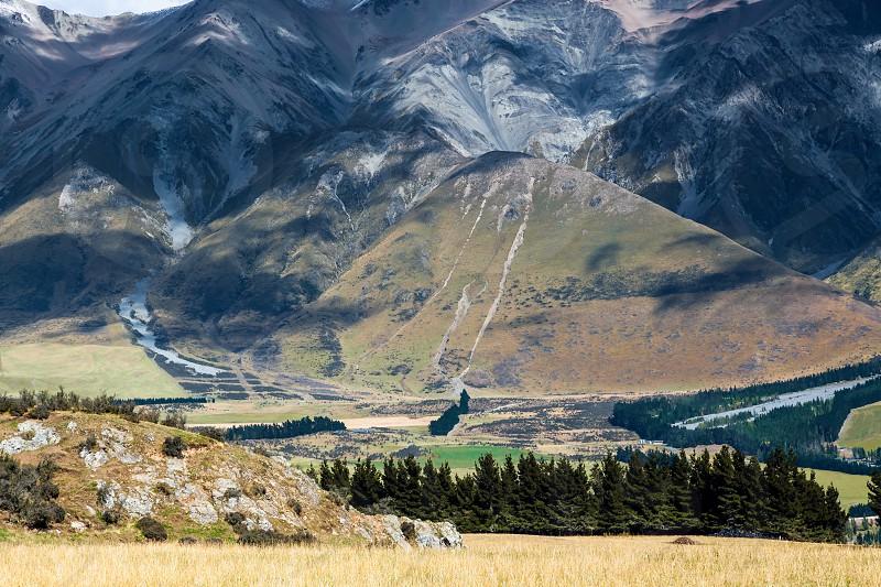 New Zealand countryside near the Rakia River photo