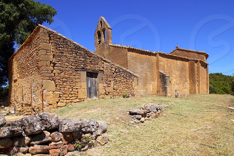 Santa Maria del Concilio romanesque church in Aragon Huesca Spain photo