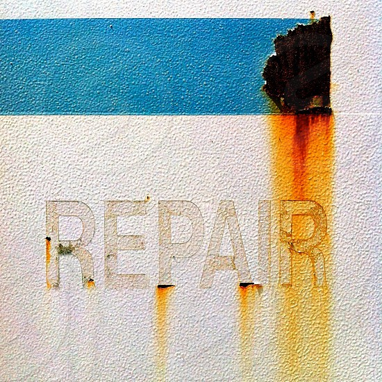 repair printed wall photo