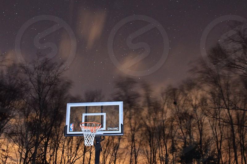 white basketball ring photo