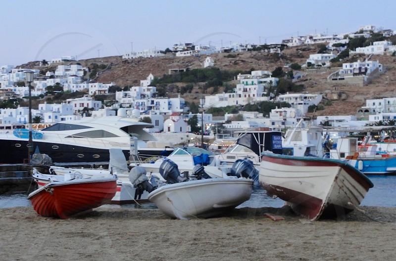 Mykonos town boats photo