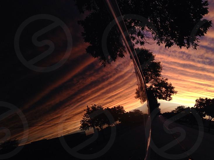 Reflection sunset photo
