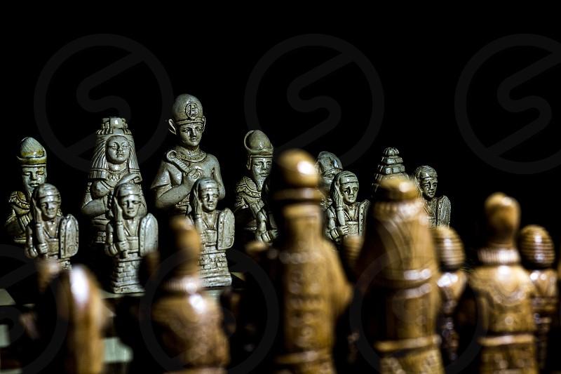 An egyptian battle chess. photo