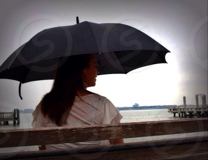 black umbrella photo