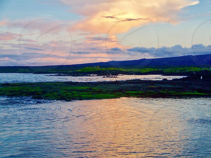 Beautiful sunset on the Galápagos Islands Ecuador. photo