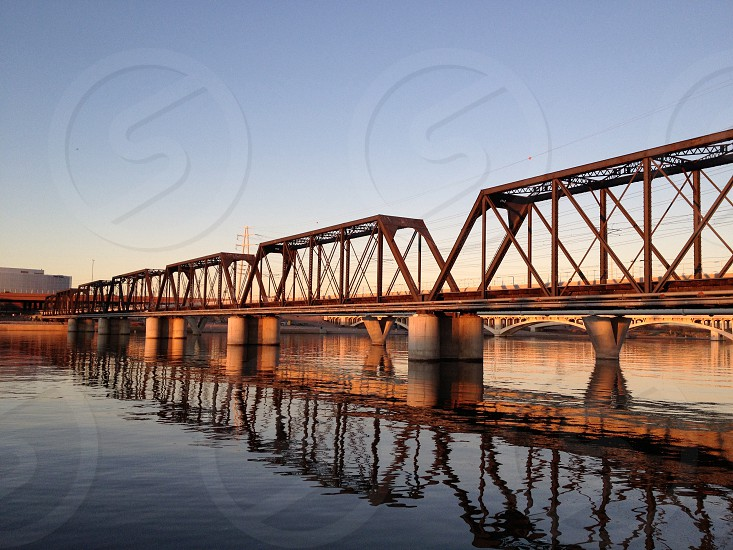 Train bridge over Tempe Town Lake photo