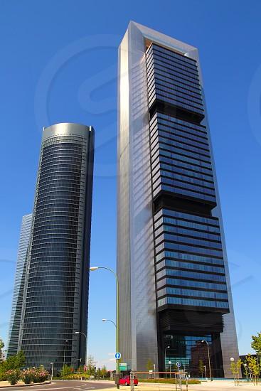 Madrid skyscrapers buildings in modern city of Spain photo