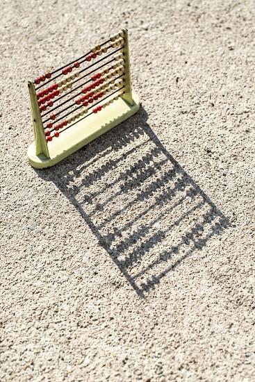 Vintage abacus. Backlight photo