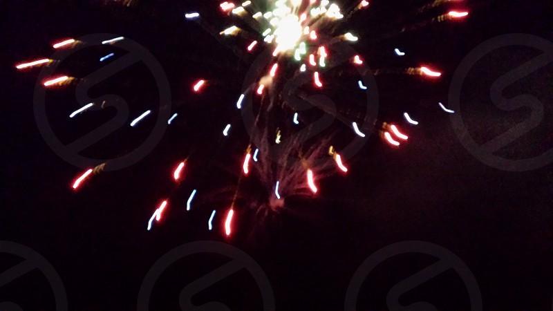 Small fireworks blast photo