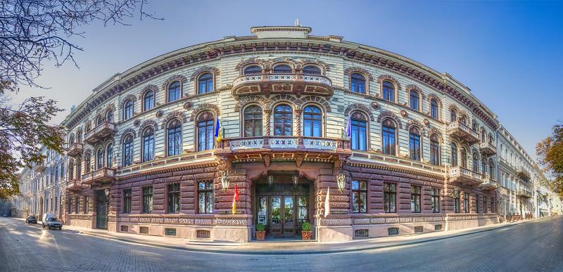 Odessa Ukraine - 09.11.2018. Luxury hotel Londonskaya in the historic center of the Odessa city. photo