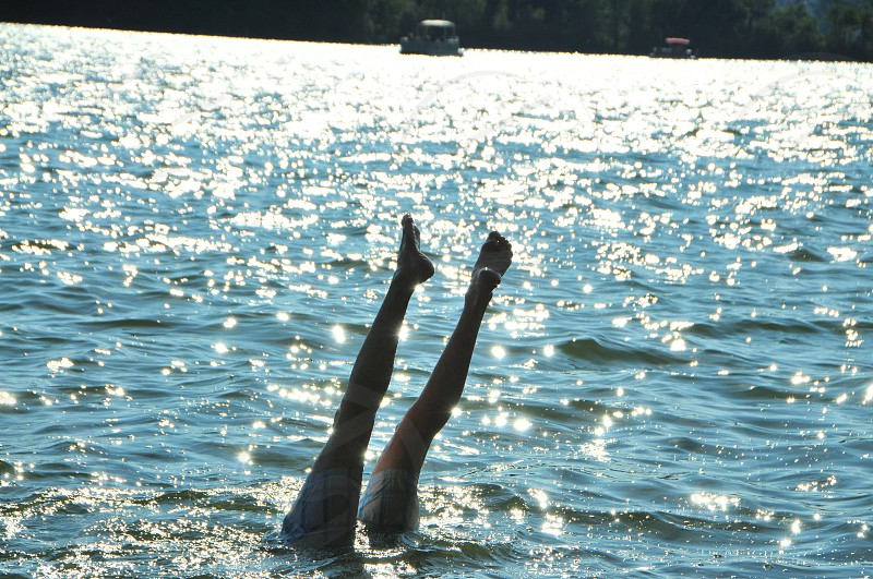 handstand lake water h20 reflection sparkles photo