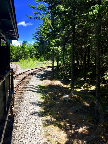 Train ride up Cheat Mountain Cass West Virginia  photo