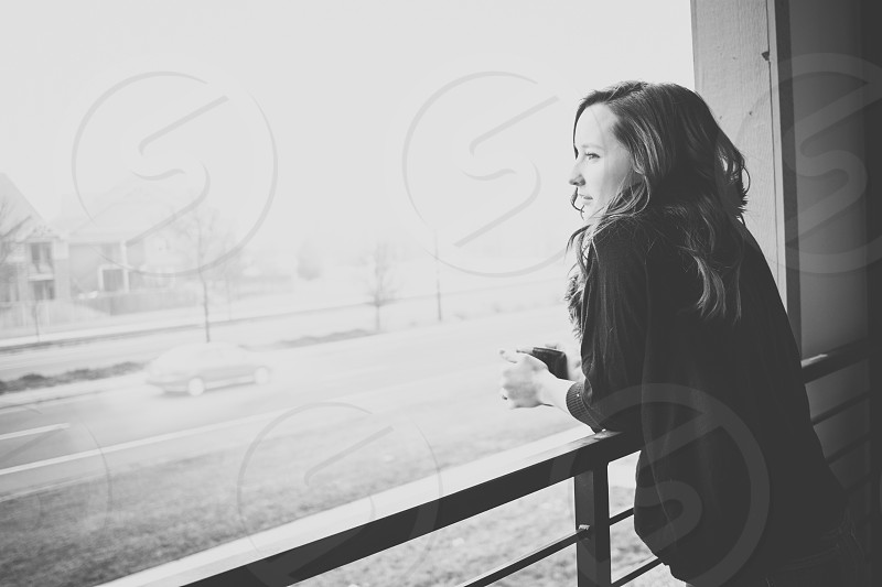 Morning Black and White Portrait photo