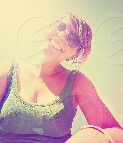adorable alone app application arm beautiful bright cute deck female feminine filter flare friendly funny girl happiness happy human instagram lens light model old one overlay person portrait pretty retro selfie single skin smiling soft summer sun sunglasses sunny tank teen teeth toned top vacation vintage woman young youth youthful  photo