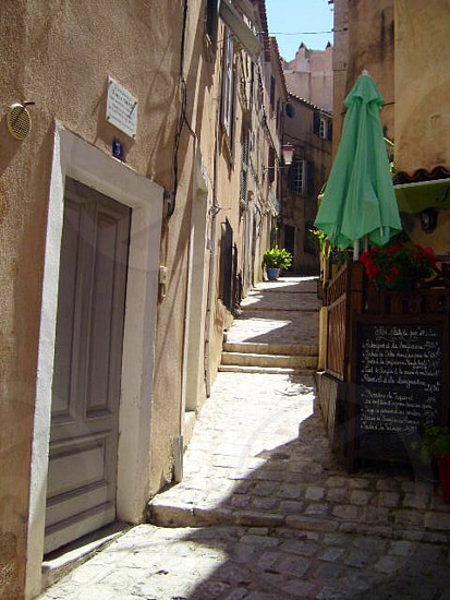 Cobbled street in Italy photo