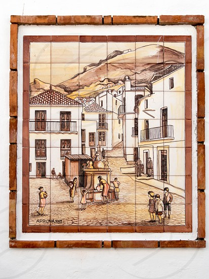 CASARES ANDALUCIA/SPAIN - MAY 5 : Artwork on a wall in Casares Spain on May 5 2014 photo