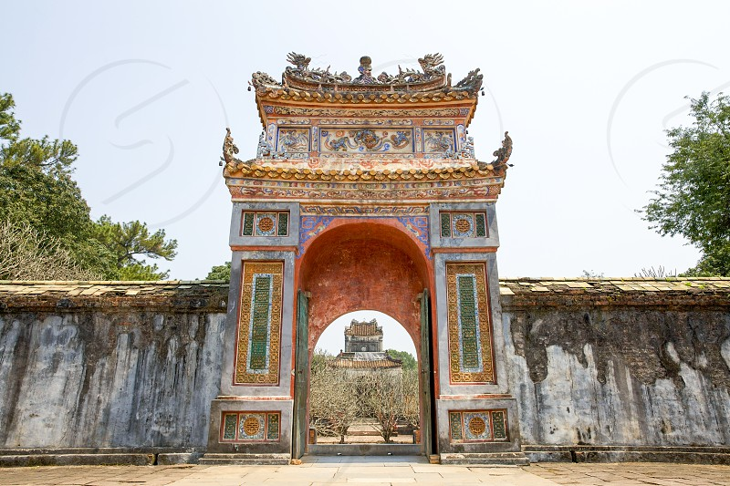 The Gate of Imperial Tomb of Tu Duc photo