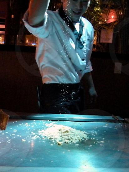 Japanese restaurant chef photo