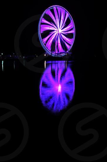 purple Ferris wheel photo