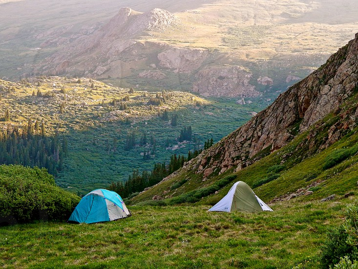 Camping with a view Mt. Brierstadt Colorado photo