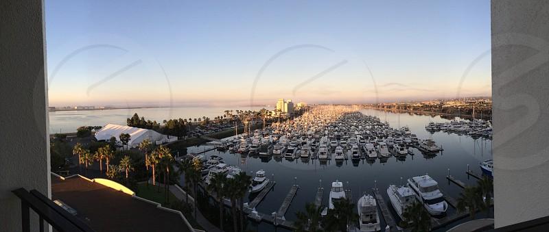 California San Diego boat marina morning photo