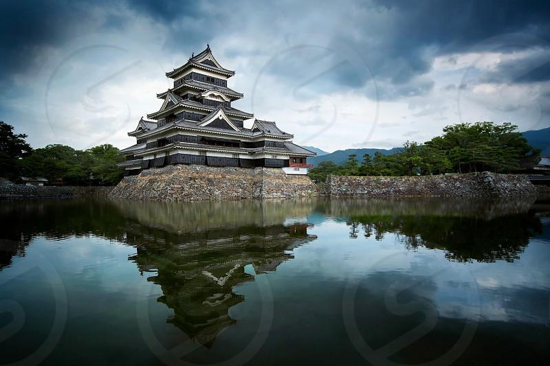 Linen filter used - Matsumoto public castle in Japan. photo