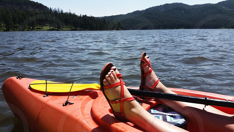 Kayaking in the Black Hills SD photo