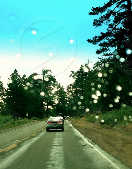 silver honda accord ahead photo