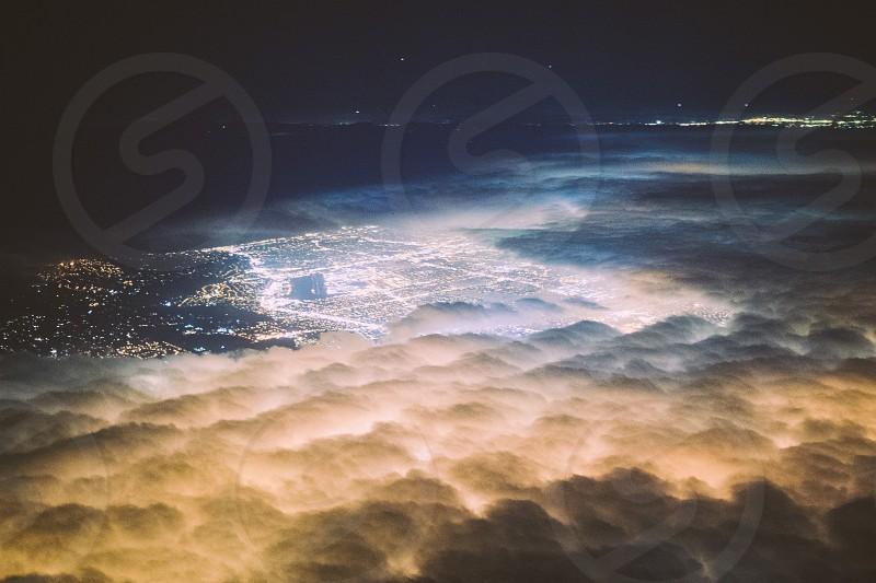 clouds city photo