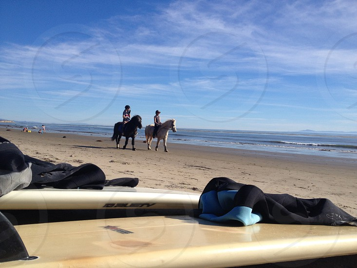 Horseback riding and surfing at Devereux photo