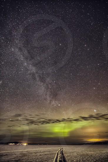Porjus by night photo