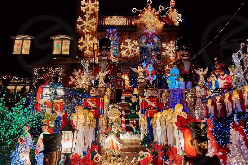 Christmas lights display photo