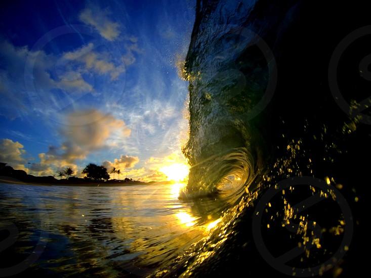 Sunrise at Sandy Beach Oahu Hawai'i. photo