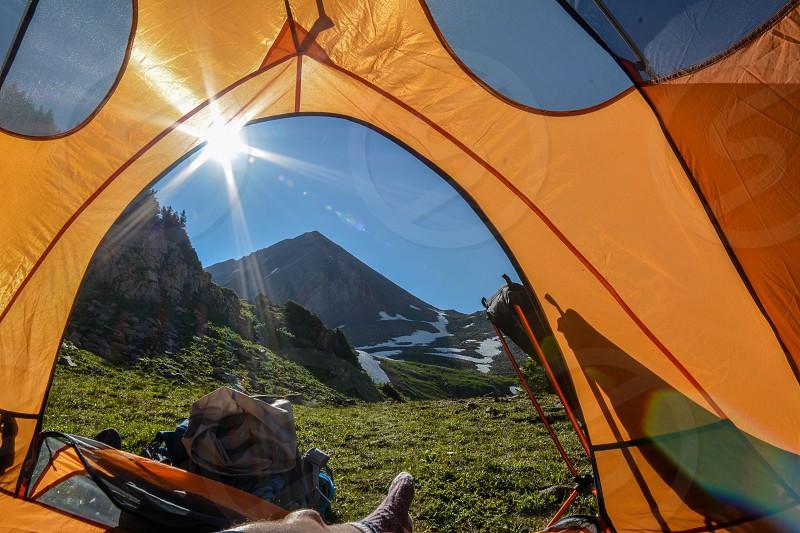 Summer in the San Juan mountains of Colorado photo