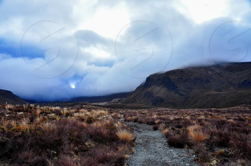 The beginning of the Tongariro trail. photo