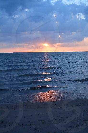 Sunset on Lake Erie NY  photo