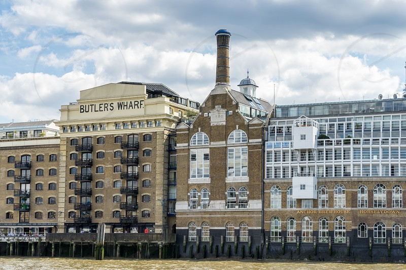View of Butler's Wharf from the River Thames photo