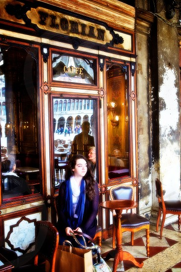 Italian cafe. Venice Italy. photo