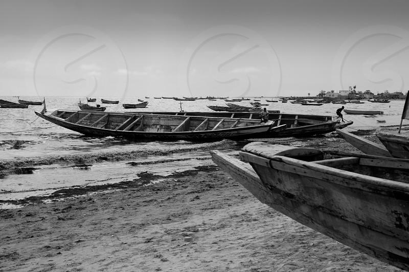 Africa Senegal Atlantic coast fisherman boats Dakar Ombu photo